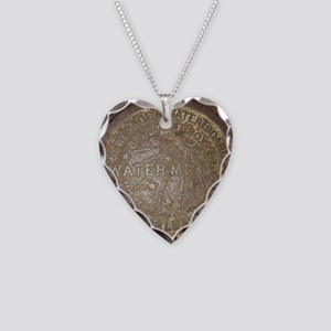 Old New Orleans Meter Lid Necklace Heart Charm