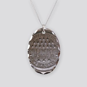 The Other Meter Cover Necklace Oval Charm