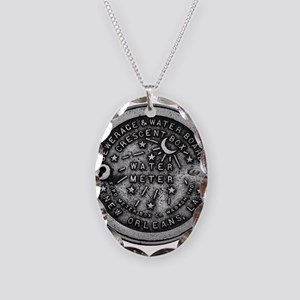 NOLA Water Meter Cover Necklace Oval Charm