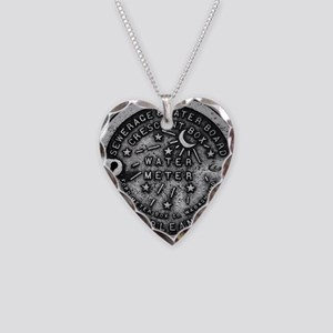 NOLA Water Meter Cover Necklace Heart Charm