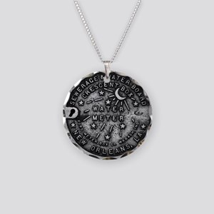 NOLA Water Meter Cover Necklace Circle Charm