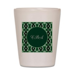 Emerald Isle Monogram Shot Glass