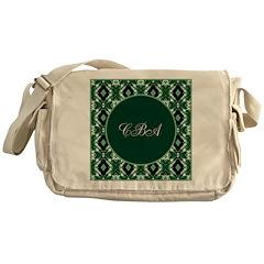 Emerald Isle Monogram Messenger Bag