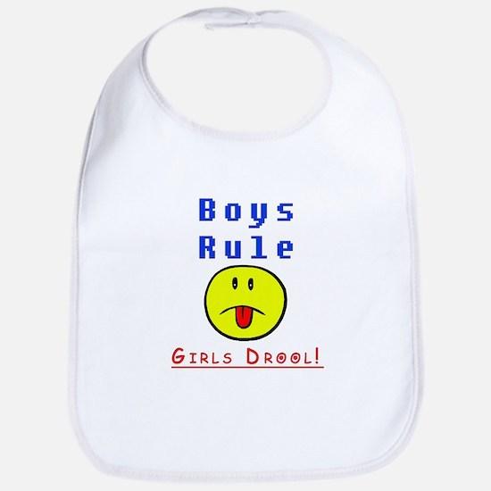 Boys Rule Bib