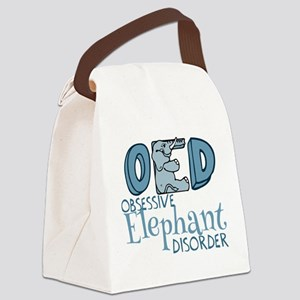 Funny Elephant Canvas Lunch Bag