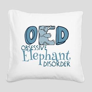 Funny Elephant Square Canvas Pillow