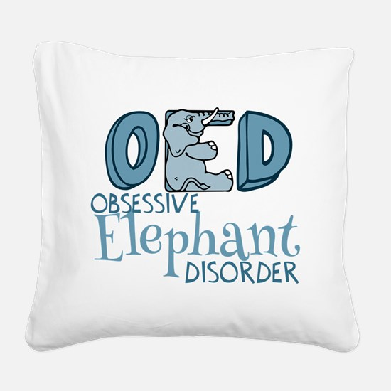 Funny Elephant Square Canvas Pillow