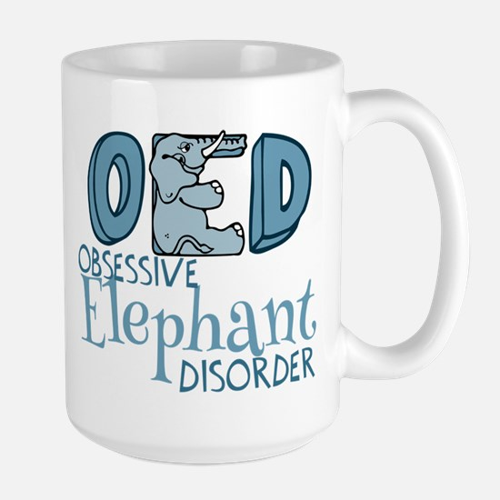 Funny Elephant Large Mug