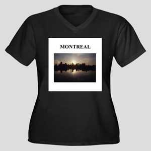 MONTREAL canada gifts Women's Plus Size V-Neck Dar