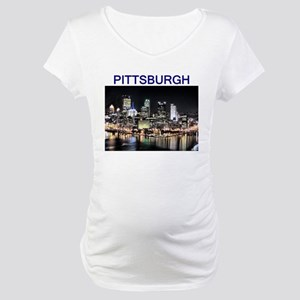 pittsburgh_test_entire_shirt_1 Maternity T-Shi