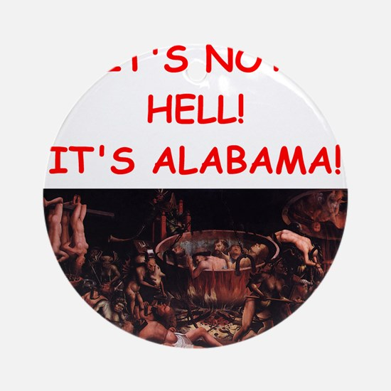 alabama Ornament (Round)