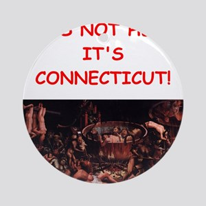 connecticut Ornament (Round)