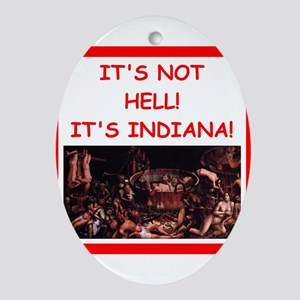indiana Ornament (Oval)