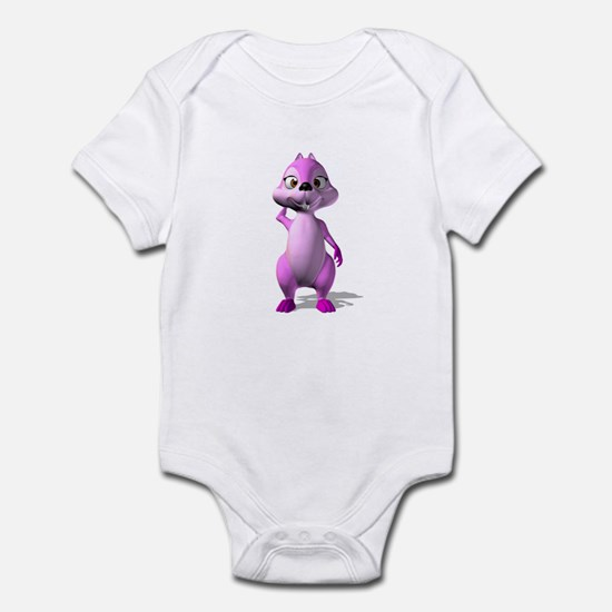 Pink Girl Squirrel Infant Bodysuit