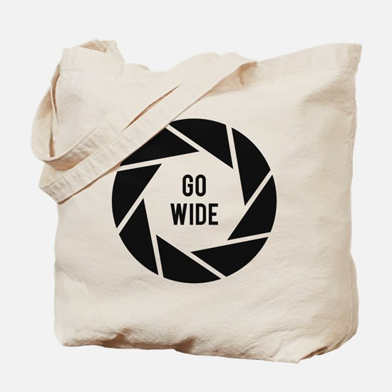 Go Wide Funny Photographer Tote Bag