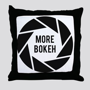 More Bokeh Photographer Throw Pillow