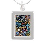 Abstract-Believe 1 Silver Portrait Necklace