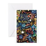 Abstract-Believe 1 Greeting Cards (Pk of 10)