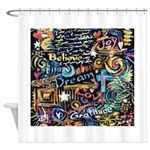 Abstract-Believe 1 Shower Curtain