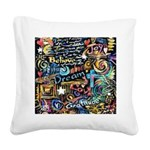 Abstract-Believe 1 Square Canvas Pillow