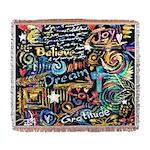 Abstract-Believe 1 Woven Blanket