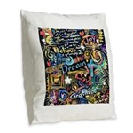Abstract-Believe 1 Burlap Throw Pillow