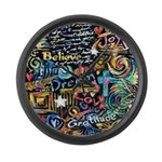 Abstract-Believe 1 Large Wall Clock
