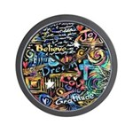 Abstract-Believe 1 Wall Clock