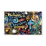 Abstract-Believe 1 Car Magnet 20 x 12