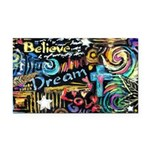 Abstract-Believe 1 Rectangle Car Magnet