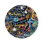Abstract-Believe 1 Ornament (Round)