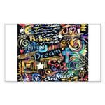 Abstract-Believe 1 Sticker (Rectangle)