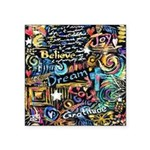 Abstract-Believe 1 Square Sticker 3