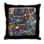 Abstract-Believe 1 Throw Pillow