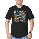 Abstract-Believe 1 Men's Fitted T-Shirt (dark)