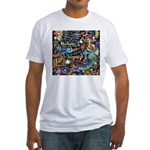 Abstract-Believe 1 Fitted T-Shirt