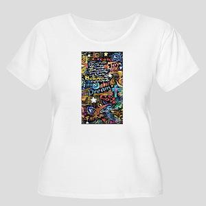 Abstract-Beli Women's Plus Size Scoop Neck T-Shirt