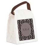 Pragmatic Plum Initials Canvas Lunch Bag
