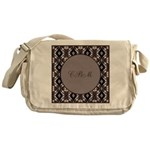 Pragmatic Plum Initials Messenger Bag