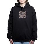 Pragmatic Plum Initials Women's Hooded Sweatshirt
