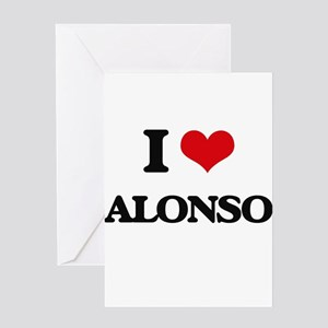 I Love Alonso Greeting Cards