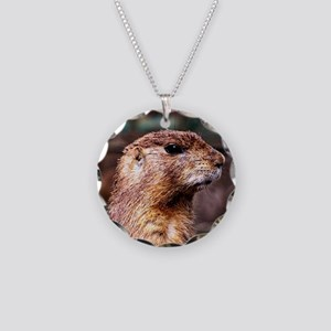 adorable gopher Necklace Circle Charm