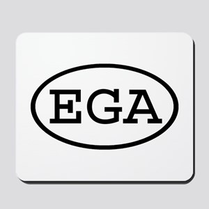 EGA Oval Mousepad
