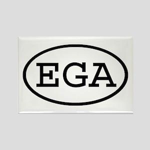 EGA Oval Rectangle Magnet
