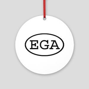 EGA Oval Ornament (Round)