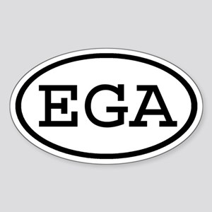 EGA Oval Oval Sticker