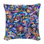 Star Swirl Woven Throw Pillow