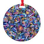 Star Swirl Round Ornament