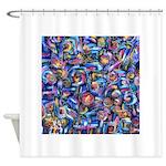 Star Swirl Shower Curtain