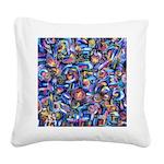 Star Swirl Square Canvas Pillow